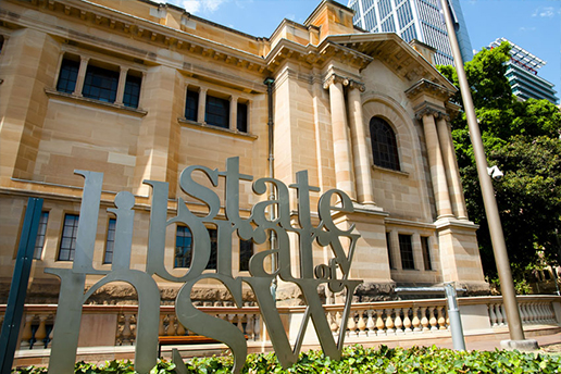 State Library of NSW in Sydney Heritage Building