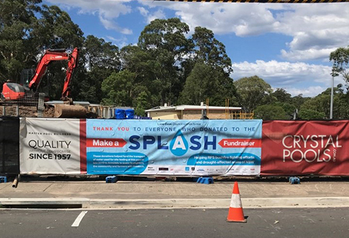 Make a Splash Banner Fundraising Lane Cove Council